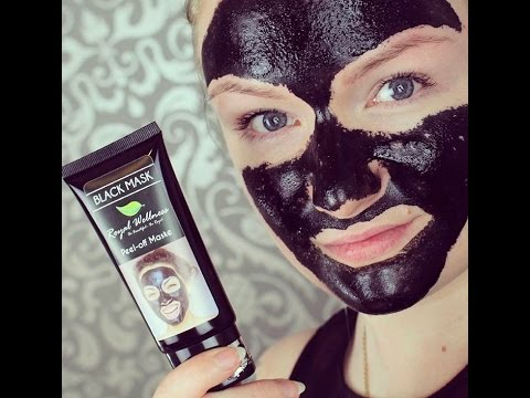 black peel off mask schwarze gesichtsmaske gegen mitesser hot or not royal wellness youtube. Black Bedroom Furniture Sets. Home Design Ideas