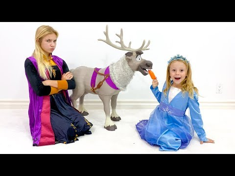Настя и Маргарита - новые игрушки для принцесс.