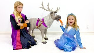 Nastya and Maggi - new toys for princess