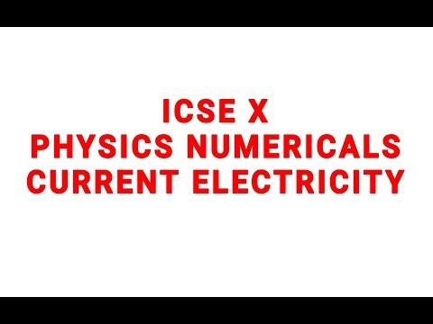 CURRENT ELECTRICITY NUMERCALS ICSE X CIRCUIT DIAGRAM....