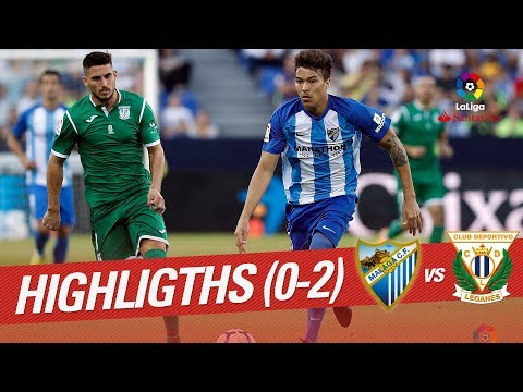 Resumen de Málaga CF vs CD Leganés (0-2)