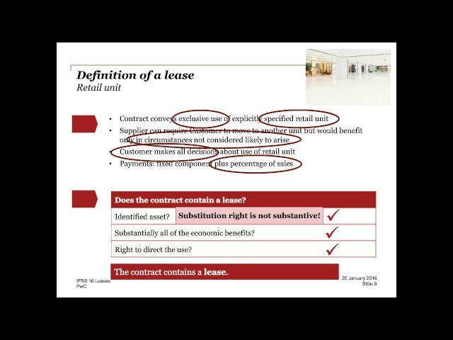IFRS 16 'Leases' what you need to know - PwC webcast (January 2016)