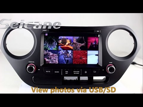 hd touch screen 2013 2015 hyundai i10 aftermarket car stereo bluetooth music audio system with. Black Bedroom Furniture Sets. Home Design Ideas
