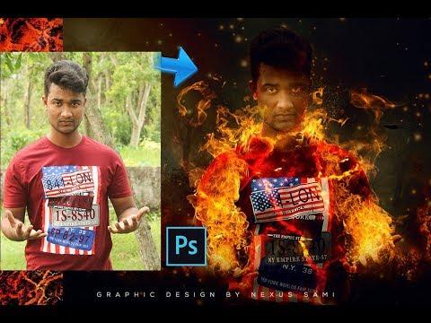 Photoshop Tutorial | Fire Photo Manipulation Photoshop CC 2018.