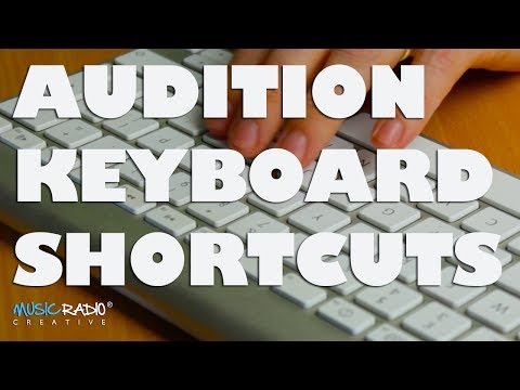 Adobe Audition Keyboard Shortcuts For Editing Audio