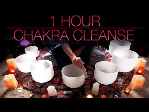 1 HR Chakra Cleansing Sound Bath / Crystal Singing Bowls / Tibetan Singing Bowl | Unintentional ASMR