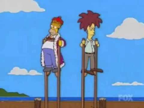 Sideshow Bob and Homer chase down the killer!