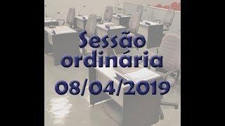 Sessão ordinária 08/04/2019
