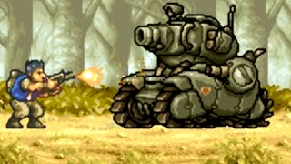 Metal Slug Advance (GBA) All Bosses (No Damage)