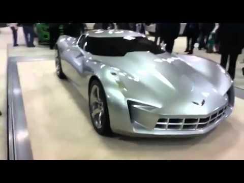 Corvette Stingray Concept Car Shot At The San Francisco Moscone - Moscone car show