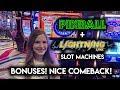 Lightning Link Sahara Gold + Pinball Slot Machine BONUSES! Nice Comeback!!