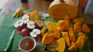 Повышаем иммунитет. Осенний фруктово овощной супер мультивитаминный сок своими руками.