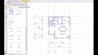Проектируем план здания в КОМПАС-Строитель(В видеоролике показан пример проектирования плана этажа с помощью приложения Архитектура: АС/АР в системе..., 2014-12-04T11:49:01.000Z)