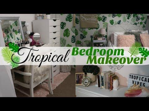 TEEN GIRLS BEDROOM MAKEOVER // TROPICAL VIBE