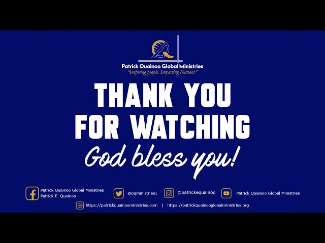 IS YOUR PRAYER ANSWERED ?  by Pastor Patrick