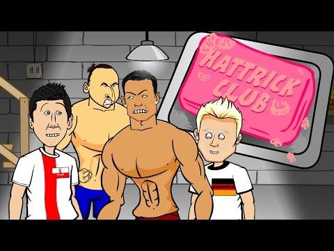 🎬HAT-TRICK CLUB 1🎬 Ronaldo, Lewandowski, Schurrle hat-trick (Euro 2016 Qualifiers PARODY cartoon)