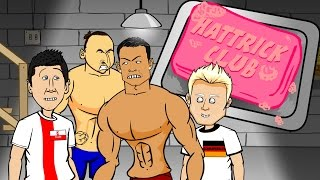 🎬HAT-TRICK CLUB 1🎬 Ronaldo, Lewandowski, Schurrle hat-trick (Euro 2016 Qualifiers PARODY cartoon)