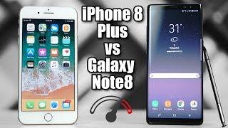 iPhone 8 Plus vs Galaxy Note 8 Speedtest Comparison