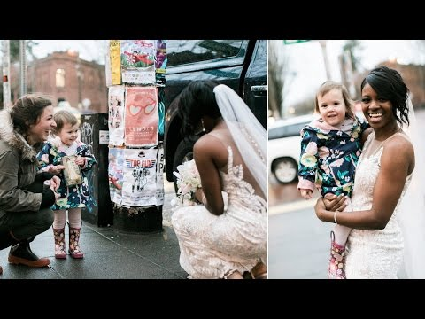 Thumbnail: Little Girl Who Mistook Bride for Princess Becomes Part of Wedding Photos
