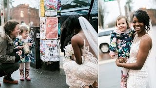 Little Girl Who Mistook Bride for Princess Becomes Part of Wedding Photos