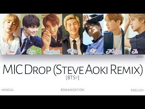 [HAN|ROM|ENG] BTS (방탄소년단) - MIC Drop (Steve Aoki Remix) (Color Coded Lyrics)