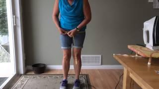 Taking hip measurement