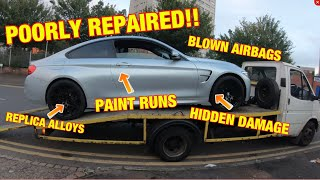 I bought a poorly repaired (BOTCHED)  salvage BMW M4 COPART UK (BIG MISTAKE)