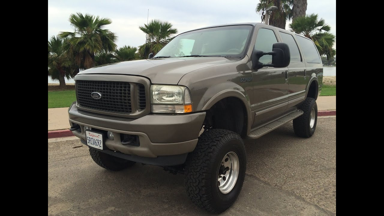2003 ford excursion 7 3l 4x4 limited diesel lifted walk around for sale 151k miles leather