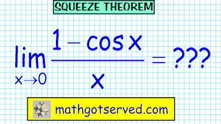 Limits Finite Squeeze Sandwich Theorem Lim X 0 Sin X X 1 Cos X X Pinch AP Calculus