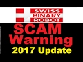 Swiss Binary Robot Review - Proven Trading SCAM ALERT! (New 2017 Update)