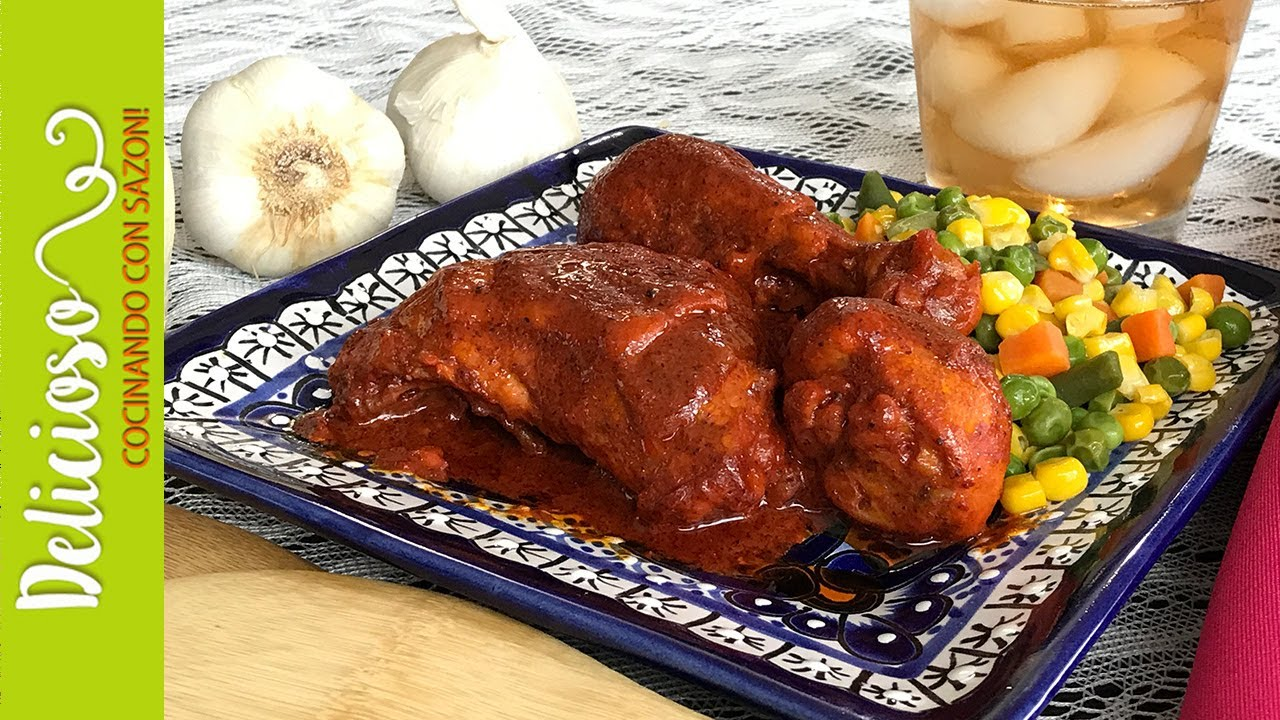 Exquisito Pollo En Achiote Sin Horno Exquisite Chicken With Achiote