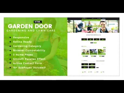Garden Door - Gardening and Landscaping HTML Template   Themeforest on garden park logos, garden club logos, garden logos design, garden nursery logos,