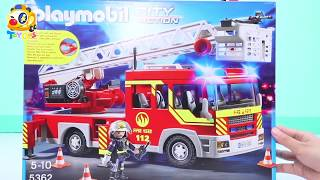 🔥Playmobil City Action! | Fire Truck | Christmas Day | Firefighter Songs | Kids Cartoon #ToyBus