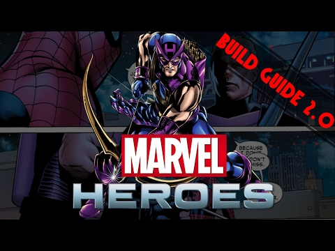 Marvel Heroes Omega: Hawkeye Build Guide 2.0 (No Commentary)