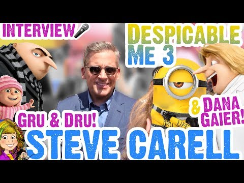 STEVE CARELL GRU & DRU Interview at Despicable Me 3 & DANA GAIER Talks EDITH! Voice Actor Extra!