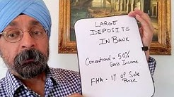 Large deposits in your bank is not an issues!!