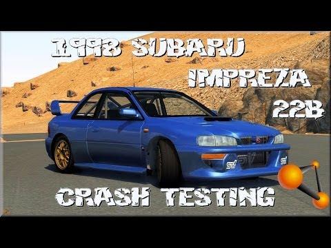 BeamNG Drive 1998 Subaru Impreza 22b Sti Crash Testing on Pikes Peak #87