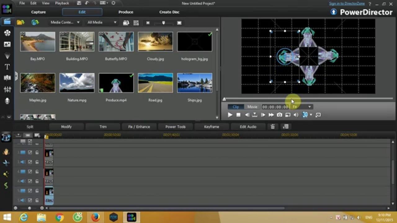 how to make hologram video with cyberlink powerdirector 11 youtube rh youtube com PowerDirector 11 Tutorial PowerDirector 11 Tutorial