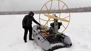Обзор аэролодки 18 л с Gordei Motors