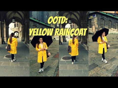 OOTD: Yellow raincoat