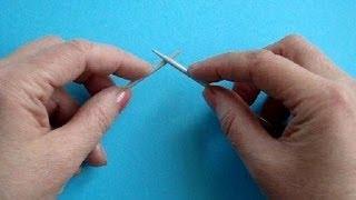 Урок 2 Вязание спицами Кnitting lessons for beginners