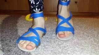 trample toy ducks in my blue sandals #crushfetish_8989