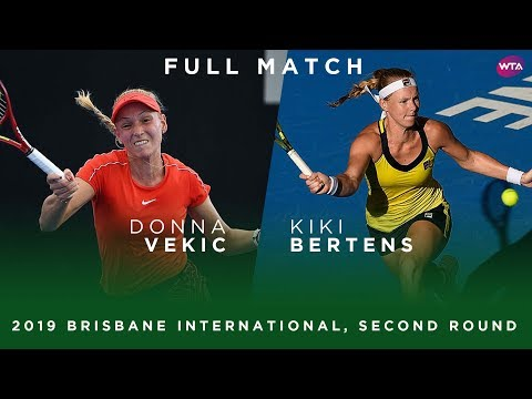 Donna Vekic Vs. Kiki Bertens   Full Match   2019 Brisbane International Second Round