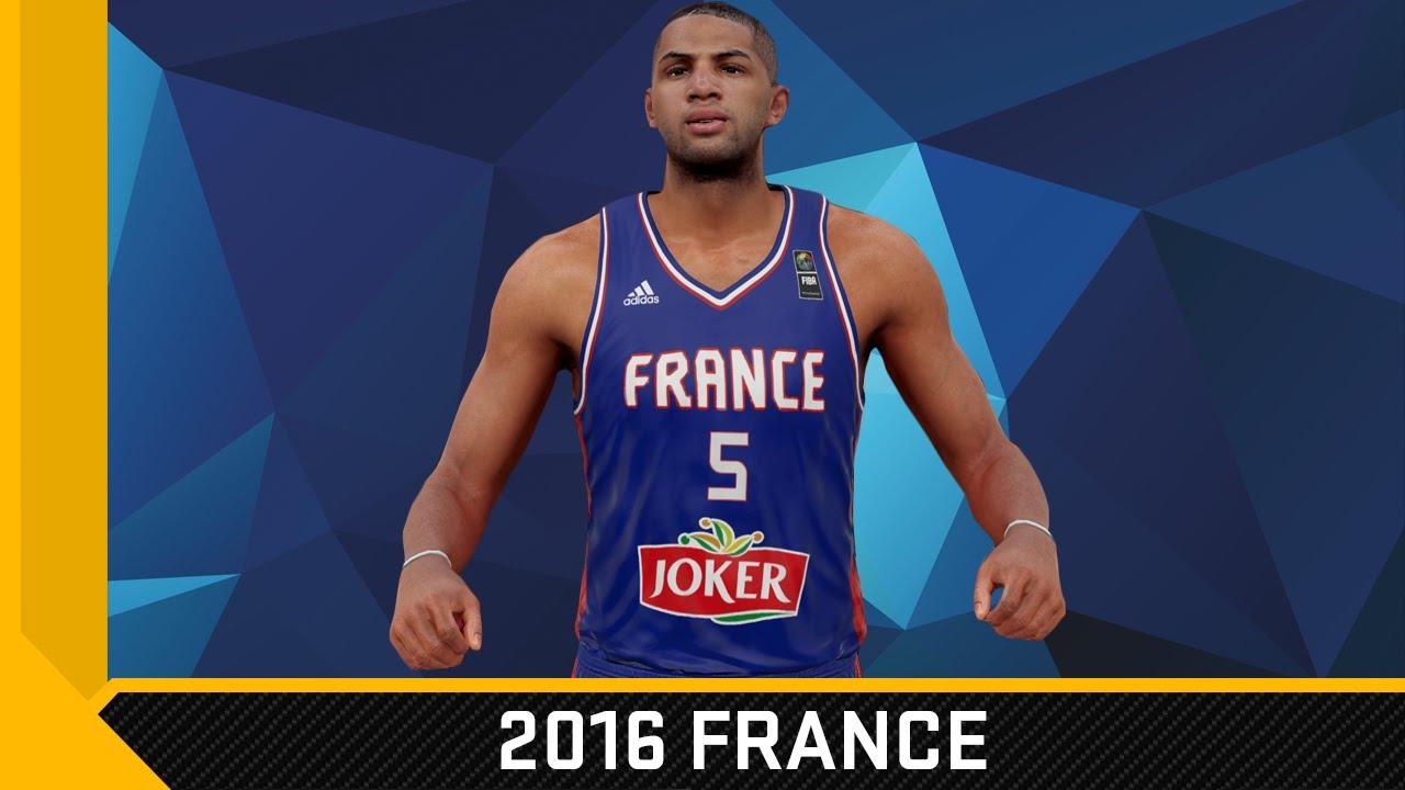 0be21f56b7b7 NBA 2K16 2015 France Olympic Jersey Tutorial - YouTube
