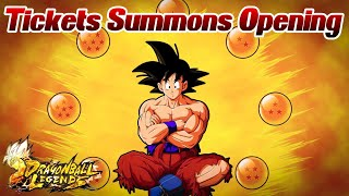 Tickets Summons Opening mit 100% Sparking! 😲 Endlich Gotenks?! | Dragon Ball Legends Deutsch