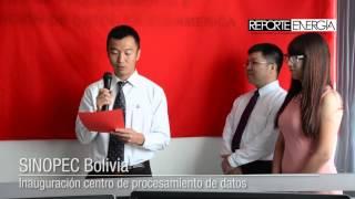 SINOPEC-Bolivia inaugura centro de procesamiento de datos