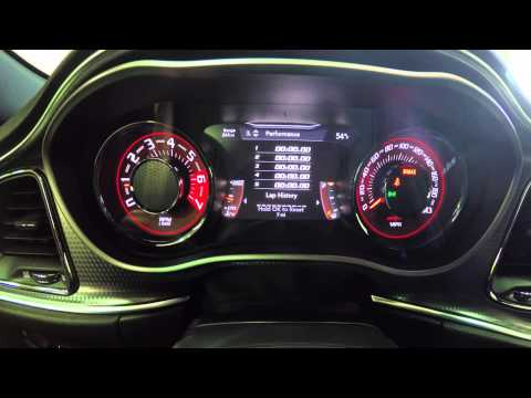 2015 Dodge Challenger SRT Hellcat MultiView Instrument Cluster Overview