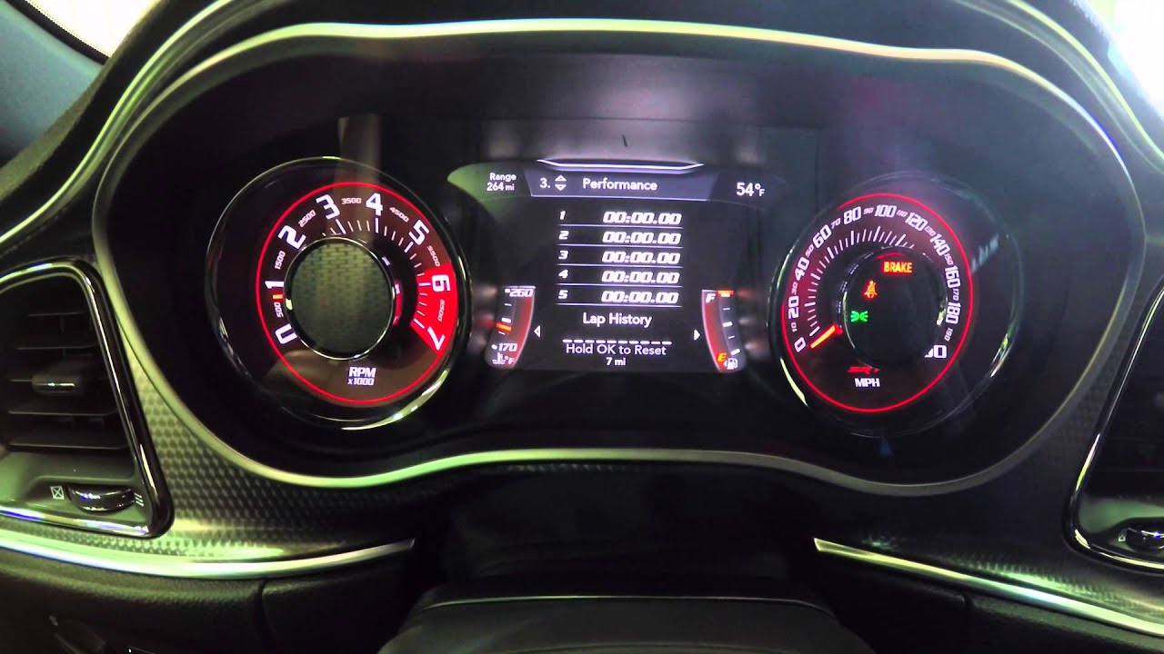 2017 Dodge Ram 1500 Srt Hellcat >> 2015 Dodge Challenger SRT Hellcat MultiView Instrument Cluster Overview - YouTube