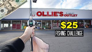 $25 Ollies Bargain Outlet Fishing Challenge!! (Surprising)