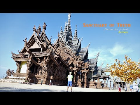 Sanctuary of Truth - Awesome carved wood temple in Thailand. Must watch